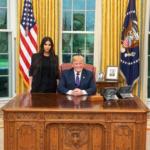 Kim Kardashian West meets with President Trump